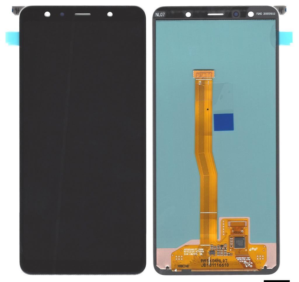 Γνήσια Οθόνη & Μηχανισμός Αφής Samsung SM-A750F Galaxy A7 (2018) Μαύρο GH96-12078A