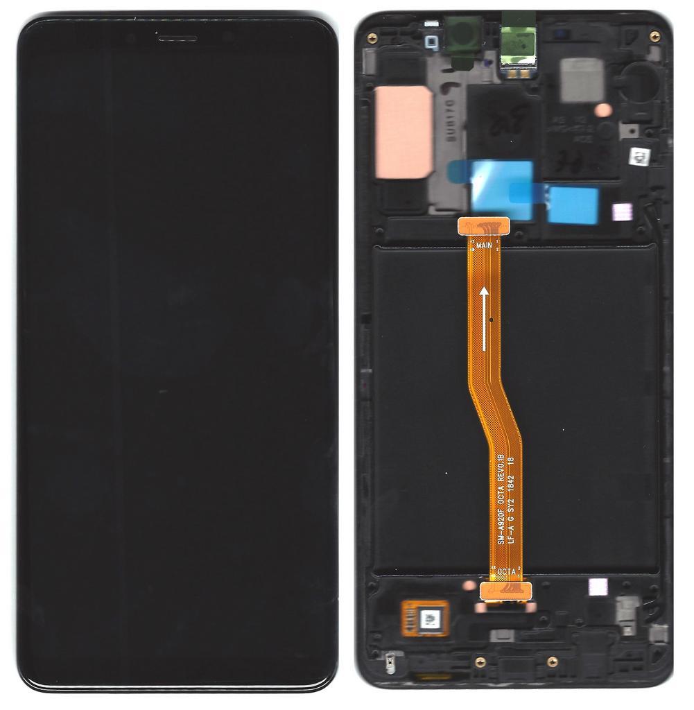 Γνήσια Οθόνη & Μηχανισμός Αφής Samsung SM-A920F Galaxy A9 (2018) Μαύρο GH82-18308A