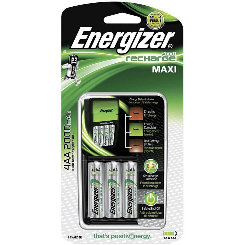 Φορτιστής Μπαταριών Energizer για AA/AAA με 4 ΑΑ Ενσωματωμένες Μπαταρίες