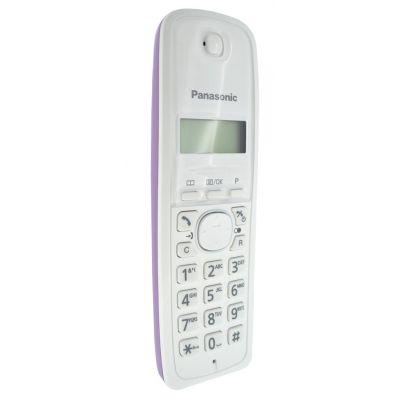 Ασύρματο Ανταλλακτικό Ακουστικό Panasonic KX-TG1611GRF Λευκό-Μώβ Bulk