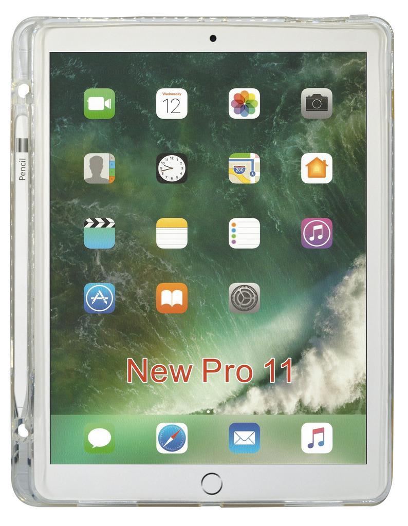Θήκη TPU Ancus για Apple iPad 11 με Βάση για Πενάκι Διάφανη