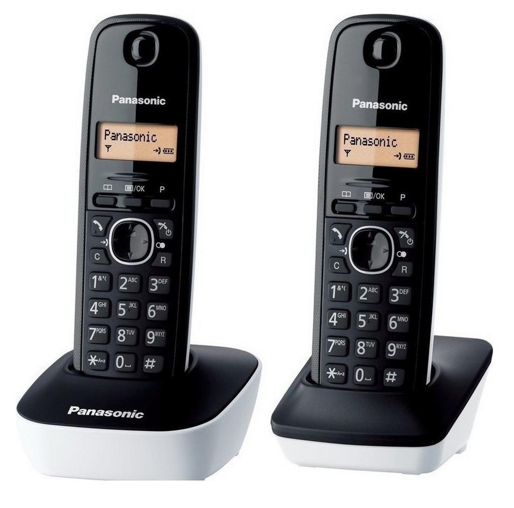 Ασύρματο Ψηφιακό Τηλέφωνο Panasonic KX-TG1612JTW Μαύρο - Λευκό