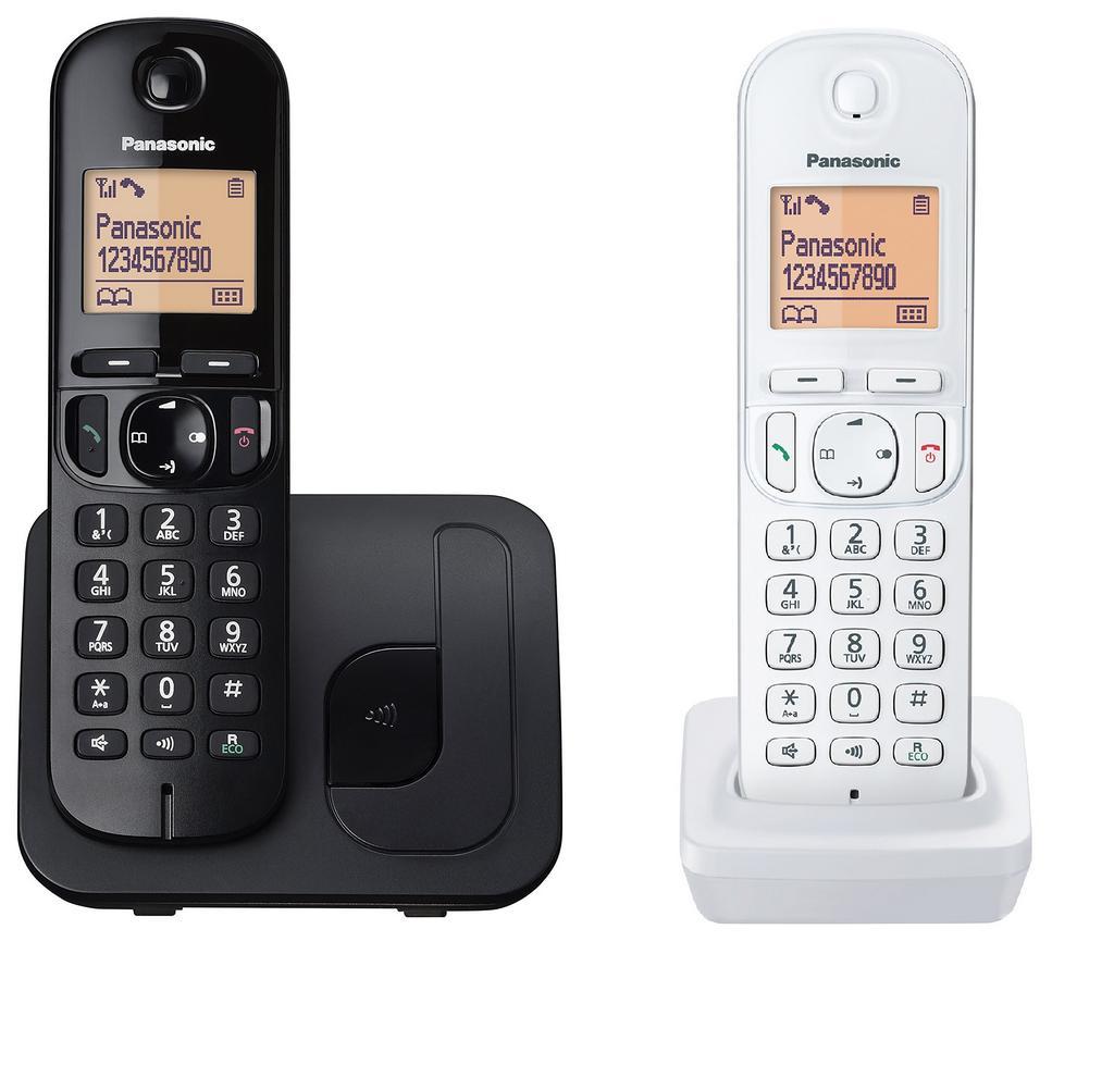 Ασύρματο Ψηφιακό Τηλέφωνο Panasonic KX-TGC212JT1 Μαύρο - Λευκό με Ανοιχτή Ακρόαση, Φραγή ενοχλητικών Κλήσεων και Λειτουργία Eco