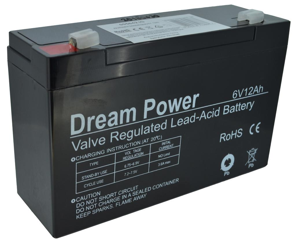 Μπαταρία για UPS Dream Power (6V 12 Ah) 1,7 kg 151mm x 50mm x 93mm