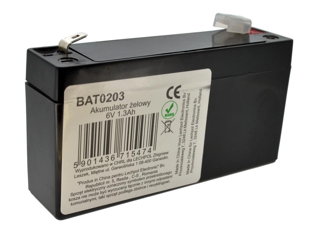 Μπαταρία για UPS Vipow LP1.3-6 (6V 1.3 Ah) 0.29 kg 96mm x 24mm x 51mm