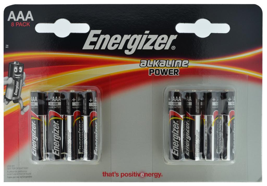 Μπαταρία Αλκαλική Energizer LR03 size AAA 1.5V Τεμ. 8