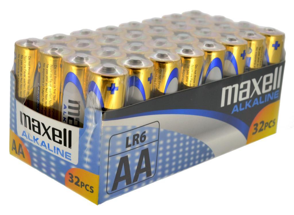 Μπαταρία Αλκαλική Maxell LR6 size AA 1.5 V Τεμ. 32