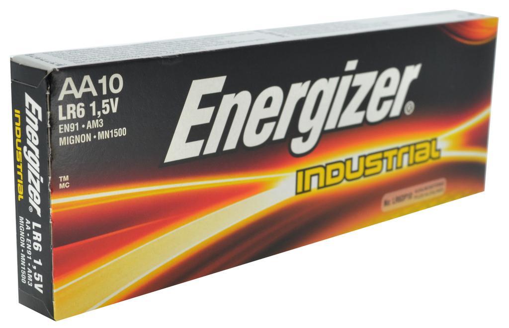 Μπαταρία Αλκαλική Energizer Industrial LR03 size AA 1.5V Τεμ. 10