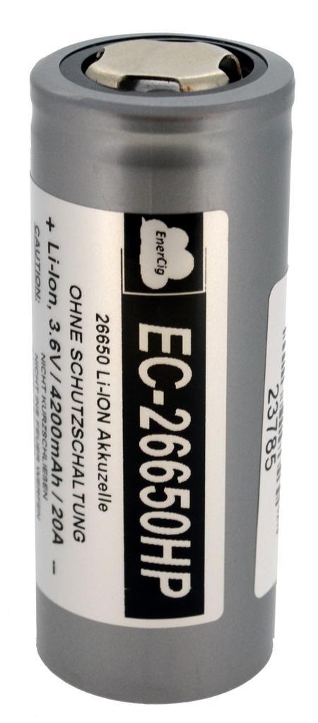 Επαναφορτιζόμενη Μπαταρία Βιομηχανικού Τύπου EnerCig 26650 EC-26650HP Li-ion 3.6V 4200mAh 20A