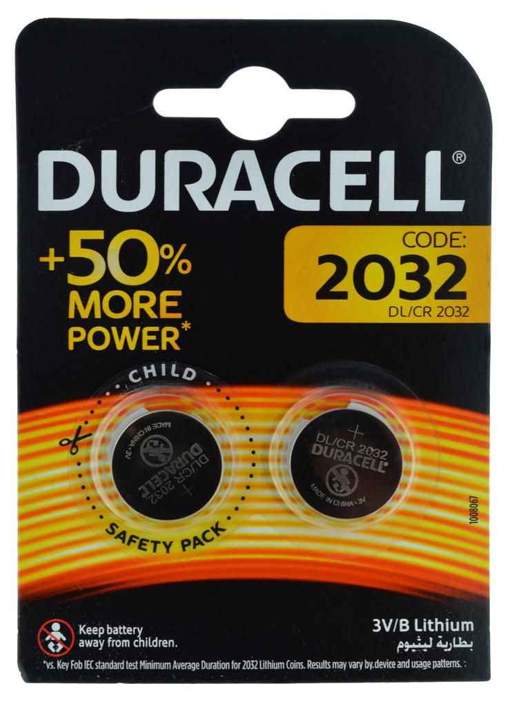 Buttoncell Duracell CR2032 Τεμ. 2