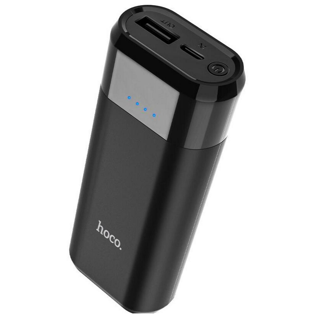 Power Bank Hoco B35A Entourage Mobile 5200 mAh Fast Charging με υποδοχή Micro-USB Μαύρο
