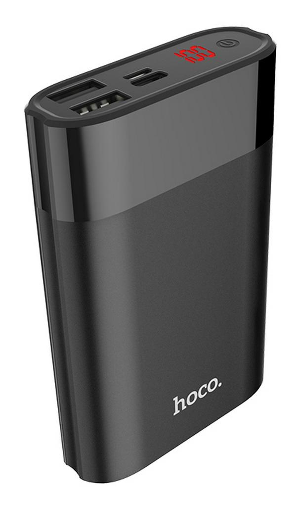 Power Bank Hoco B34 Outstanding Series 8000 mAh με υποδοχή Micro-USB, Type-C και 2 Θύρες USB Ψηφιακή LED Ένδειξη και Πλήκτρο Αφής Μαύρο