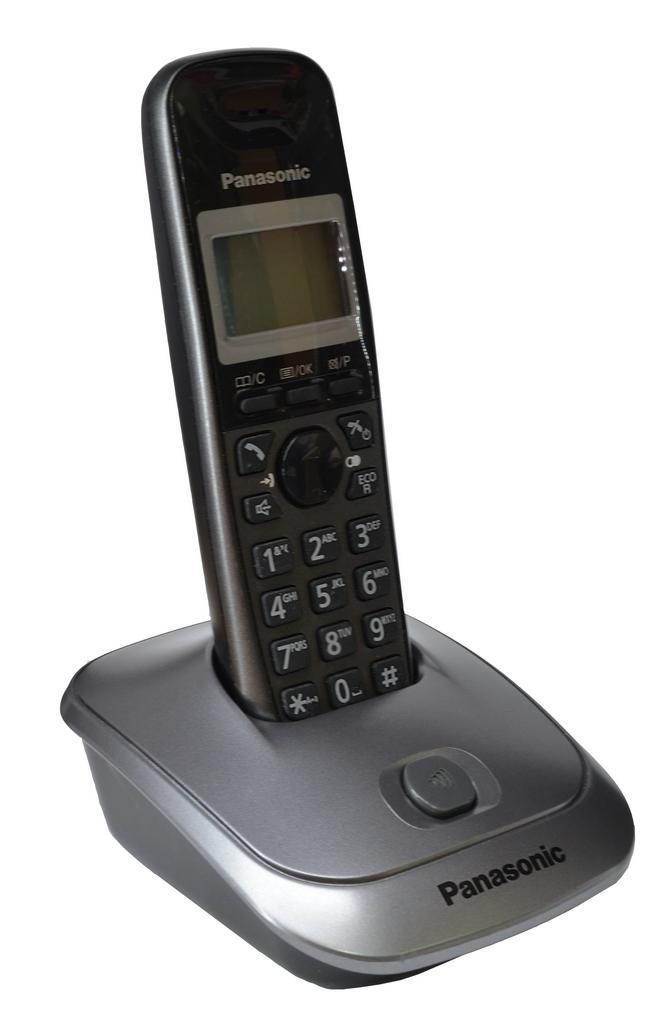 Refurbished (Εκθεσιακό) Ασύρματο Ψηφιακό Τηλέφωνο Panasonic KX-TG2511GRT Μαύρο