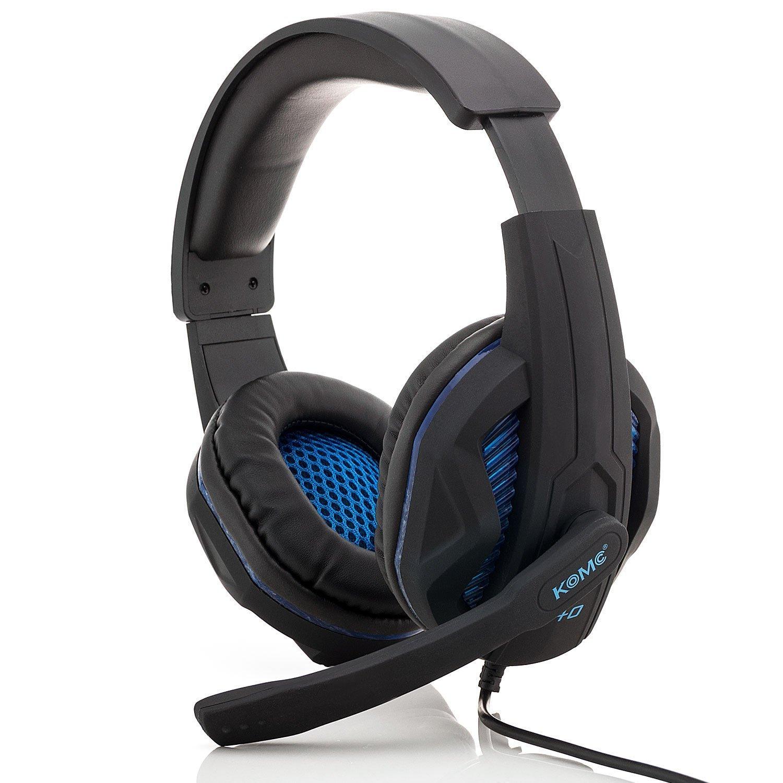 Ακουστικά Stereo KOMC USB Headphones G40 Μαύρα