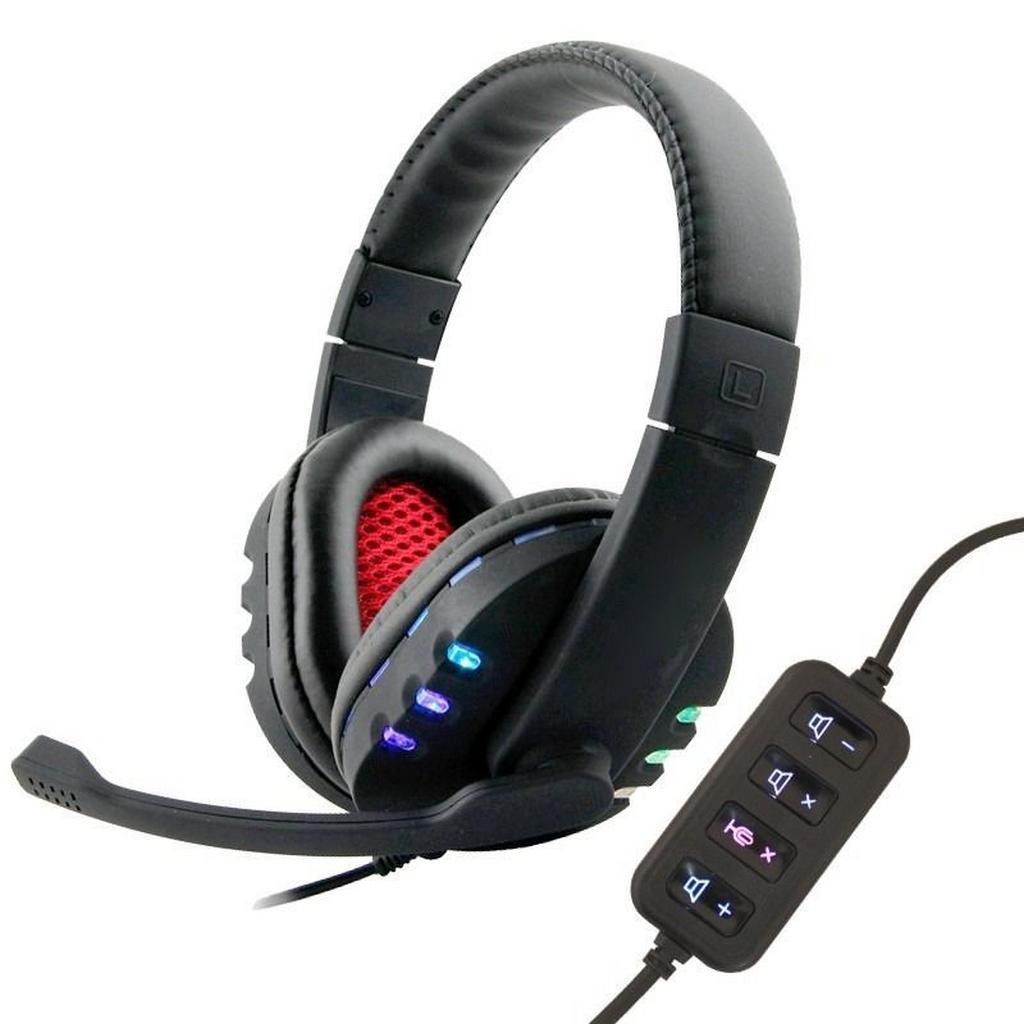 Ακουστικά Stereo KOMC USB Flash KM-9700 Μαύρα