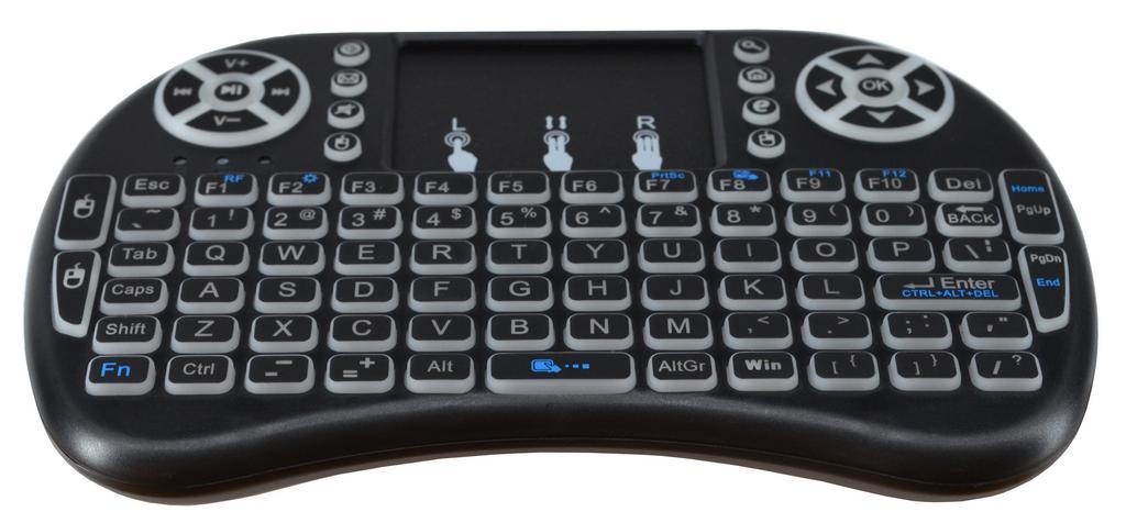 Πληκτρολόγιο Wireless Mobilis Backlit για Smartphone, Tablet, PC, και SmartTV Μαύρο Μαύρο