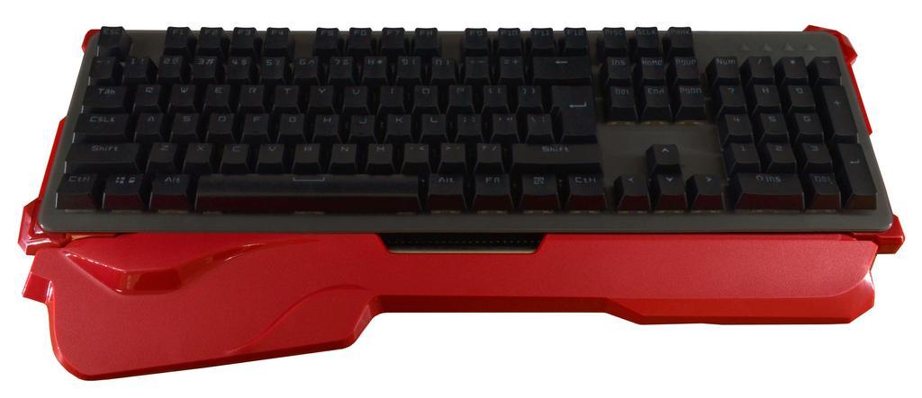 Πληκτρολόγιο Ενσύρματο Μηχανικό Mobilis με Κόκκινη Ενσωματωμένη Περικάρπια Βάση και Αδιάβροχο Κάλυμμα Πλήκτρων. Μαύρο