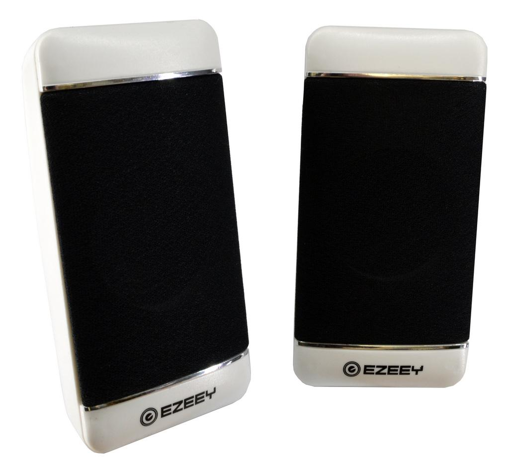 Ηχείο Stereo Multimedia Ezeey S4 με σύνδεση 3.5mm και USB φόρτιση, 2.5W x 2, 4Ω 3W, Λευκό