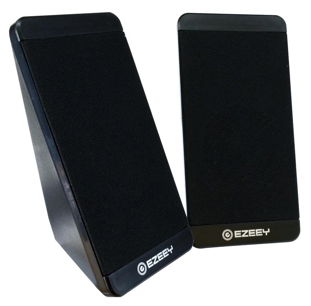 Ηχείο Stereo Multimedia Ezeey S5 με σύνδεση 3.5mm και USB φόρτιση, 2.5W x 2, 4Ω 3W, Μαύρο