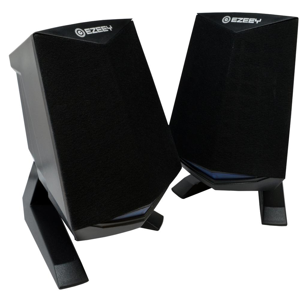 Ηχείο Stereo Multimedia Ezeey Black Samurai A4 με σύνδεση 3.5mm και USB φόρτιση, 3W x 2, Μαύρο