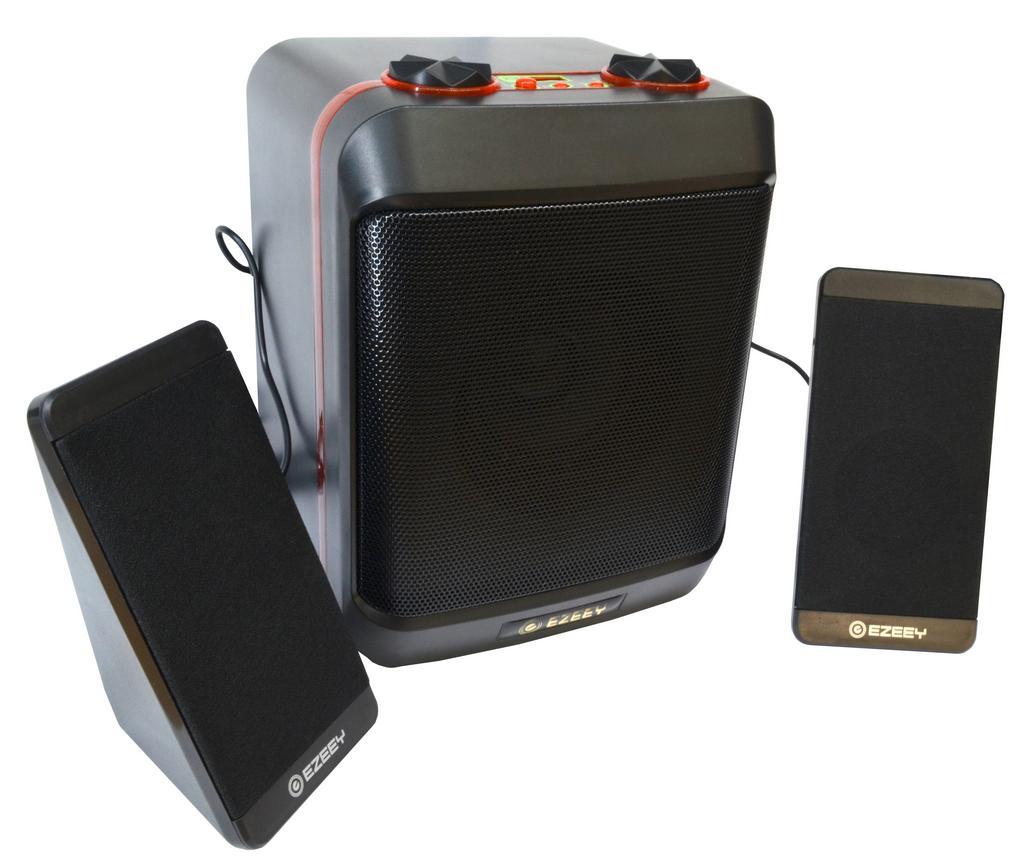 Ηχείο Stereo Multimedia Ezeey S5 Max με σύνδεση 3.5mm και USB φόρτιση, Μαύρο