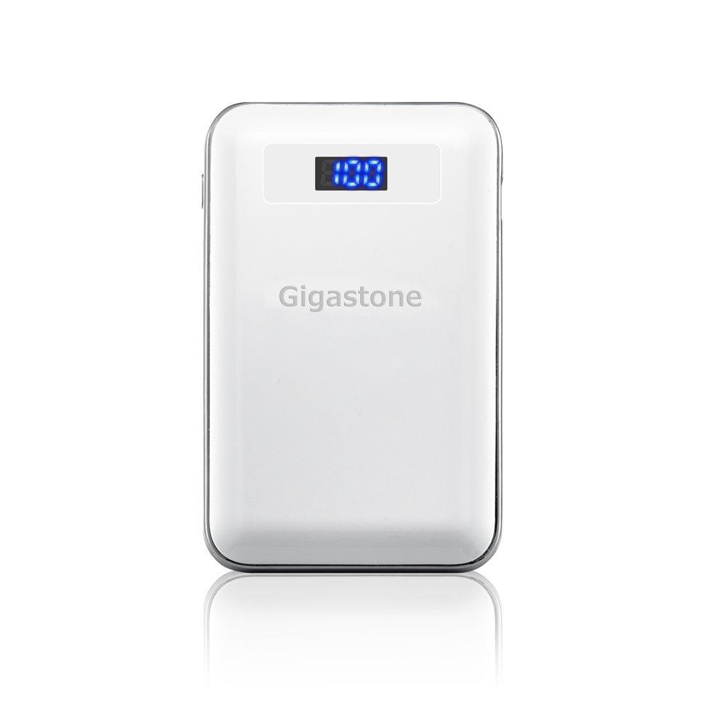 Power Bank Gigastone PB-7009W 9000mAh με Διπλή USB Έξοδο, με LCD Ενδείξεις και Φακό. Λευκό