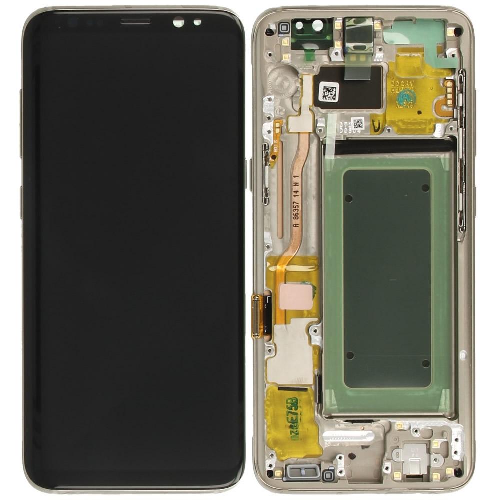Γνήσια Οθόνη & Μηχανισμός Αφής Samsung SM-G950F Galaxy S8 Χρυσαφί GH97-20457F GH97-20473F