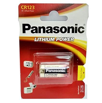 Μπαταρία Panasonic Lithium Power CR123AL/1BP 123/E123A/K123L/CR17345 3V Τεμ. 1