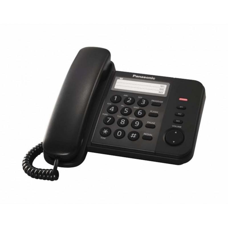 Σταθερό Ψηφιακό Τηλέφωνο Panasonic KX-TS520EX1B Μαύρο