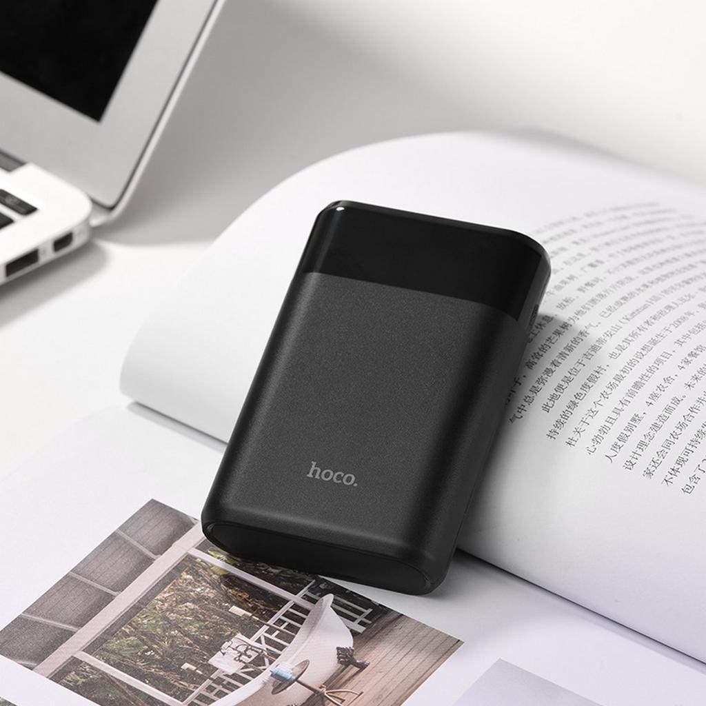 Power Bank Hoco B35B Entourage Mobile 8000 mAh με υποδοχή Micro-USB και 2 Θύρες USB Μαύρο