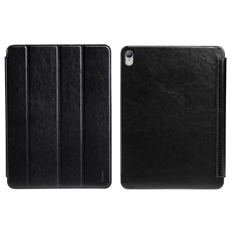 Θήκη Book Hoco Retro Leather για Apple iPad Pro Μαύρη
