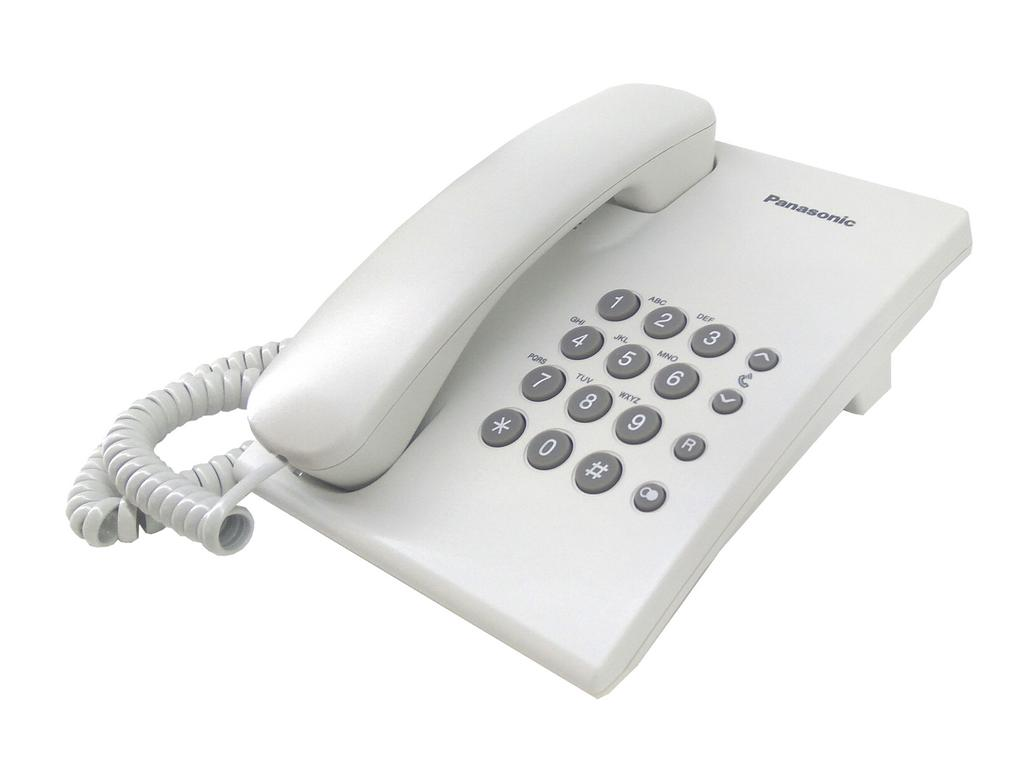 Σταθερό Ψηφιακό Τηλέφωνο Panasonic KX-TS500EXW Λευκό
