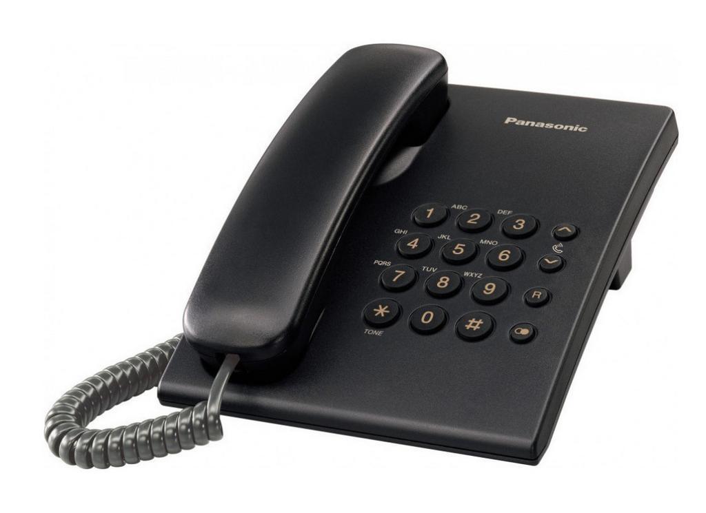 Σταθερό Ψηφιακό Τηλέφωνο Panasonic KX-TS500EXB Μαύρο