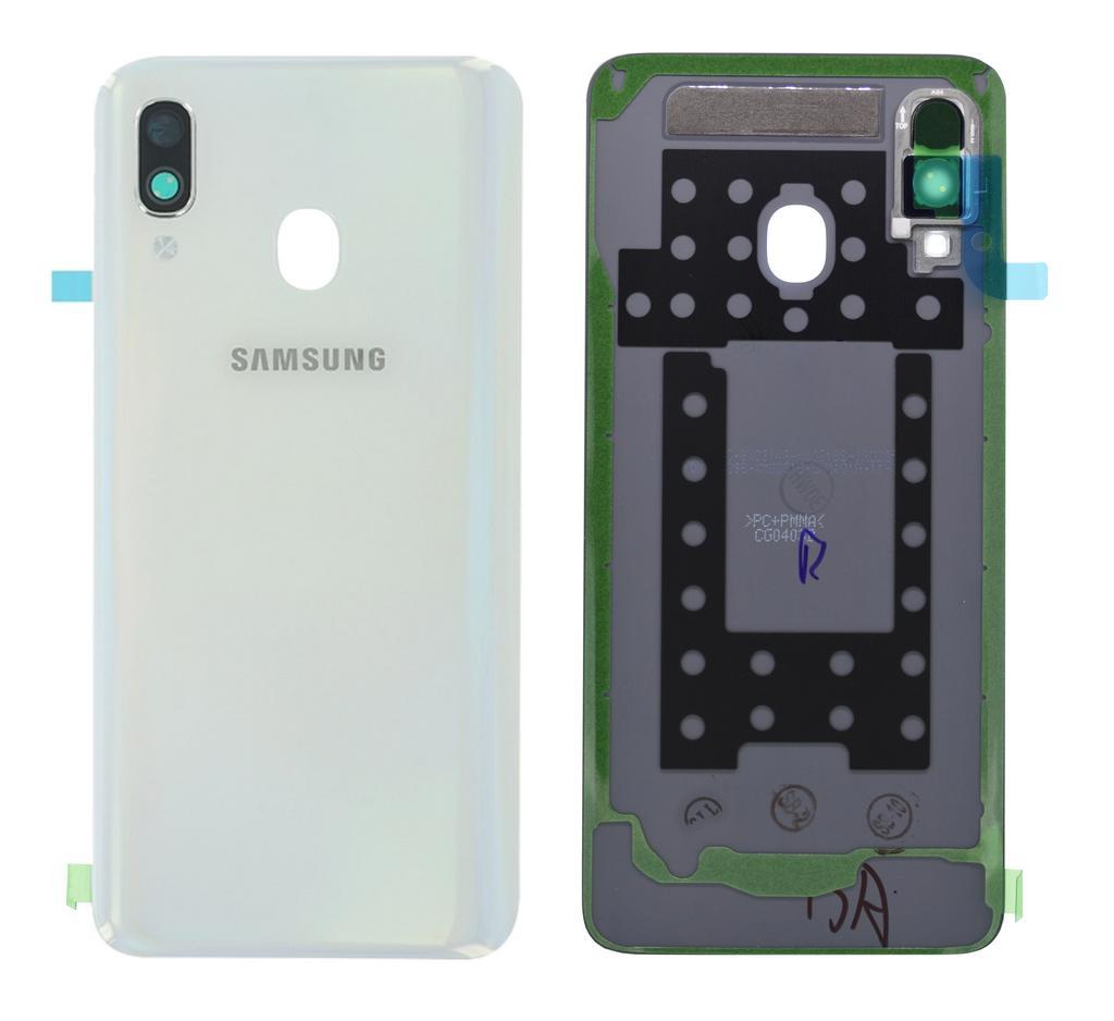 Καπάκι Μπαταρίας Samsung SM-A405F Galaxy A40 Λευκό Original GH82-19406B