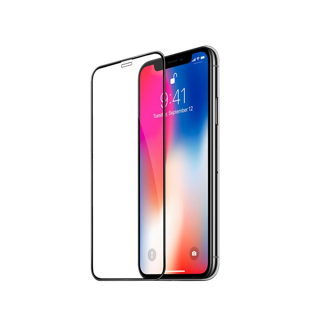 Tempered Glass Hoco Fast Attach 3D Full Screen Protection για Apple iPhone XS Max Μαύρο