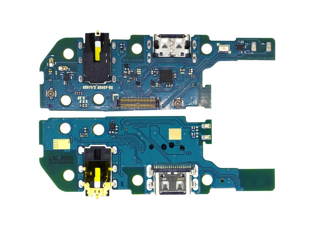 Επαφή Φόρτισης Samsung SM-A202F Galaxy A20e με Μικρόφωνο και Επαφή Ακουστικών GH59-15086A Original