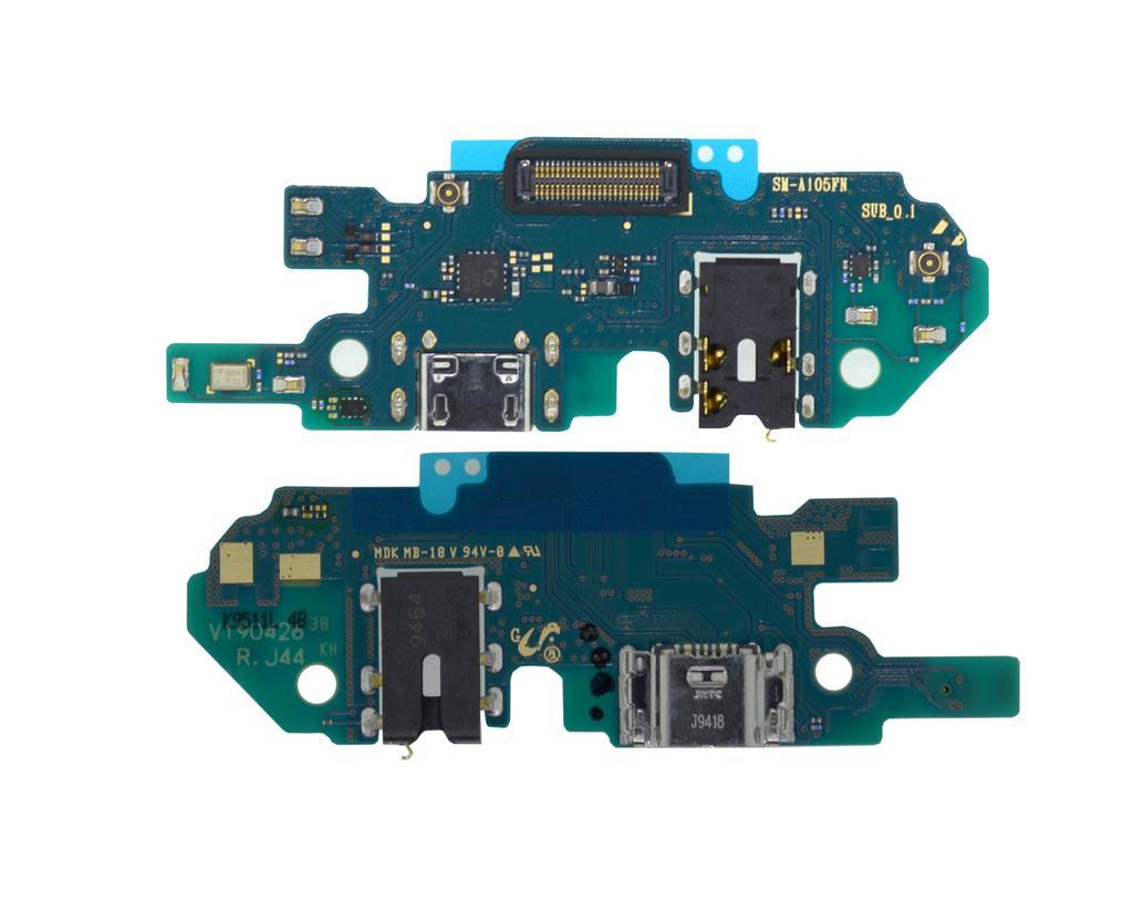 Επαφή Φόρτισης Samsung SM-A105F Galaxy A10 με Μικρόφωνο και Επαφή Ακουστικών GH96-12719A Original