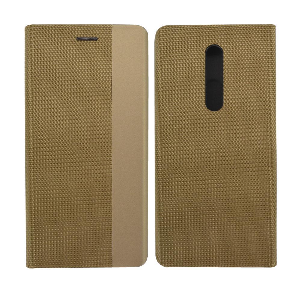 Θήκη Book Ancus Magnetic Canvas για Xiaomi Mi 9T Pro / Redmi K20 Pro TPU Χρυσαφί