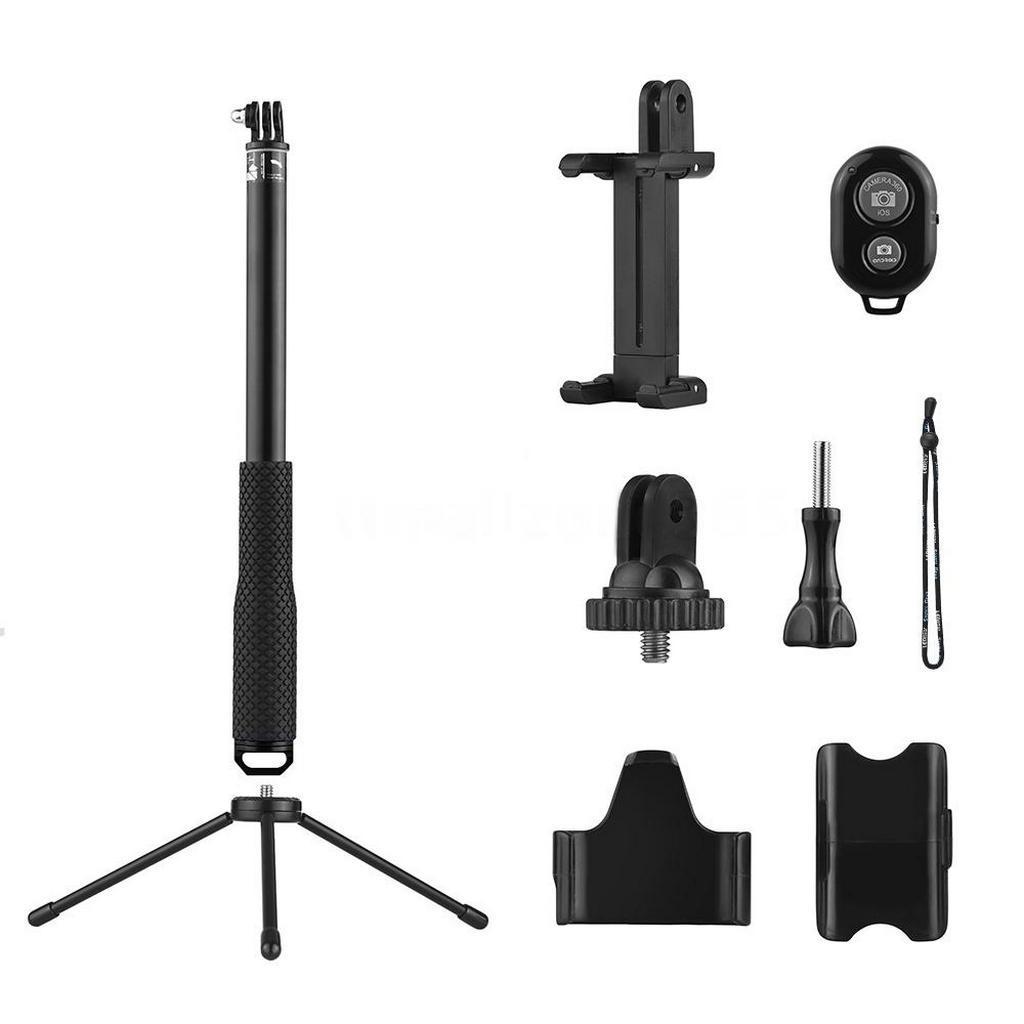 Selfie Stick Monopod Bluetooth LEDISTAR LDX-808 Suit για GoPro, Φωτογραφικές Μηχανές και Κινητά Τηλέφωνα. Πτυσσόμενο Μαύρο (Μήκος Κονταριού 36cm, Μήκος Ανοίγματος 110cm)
