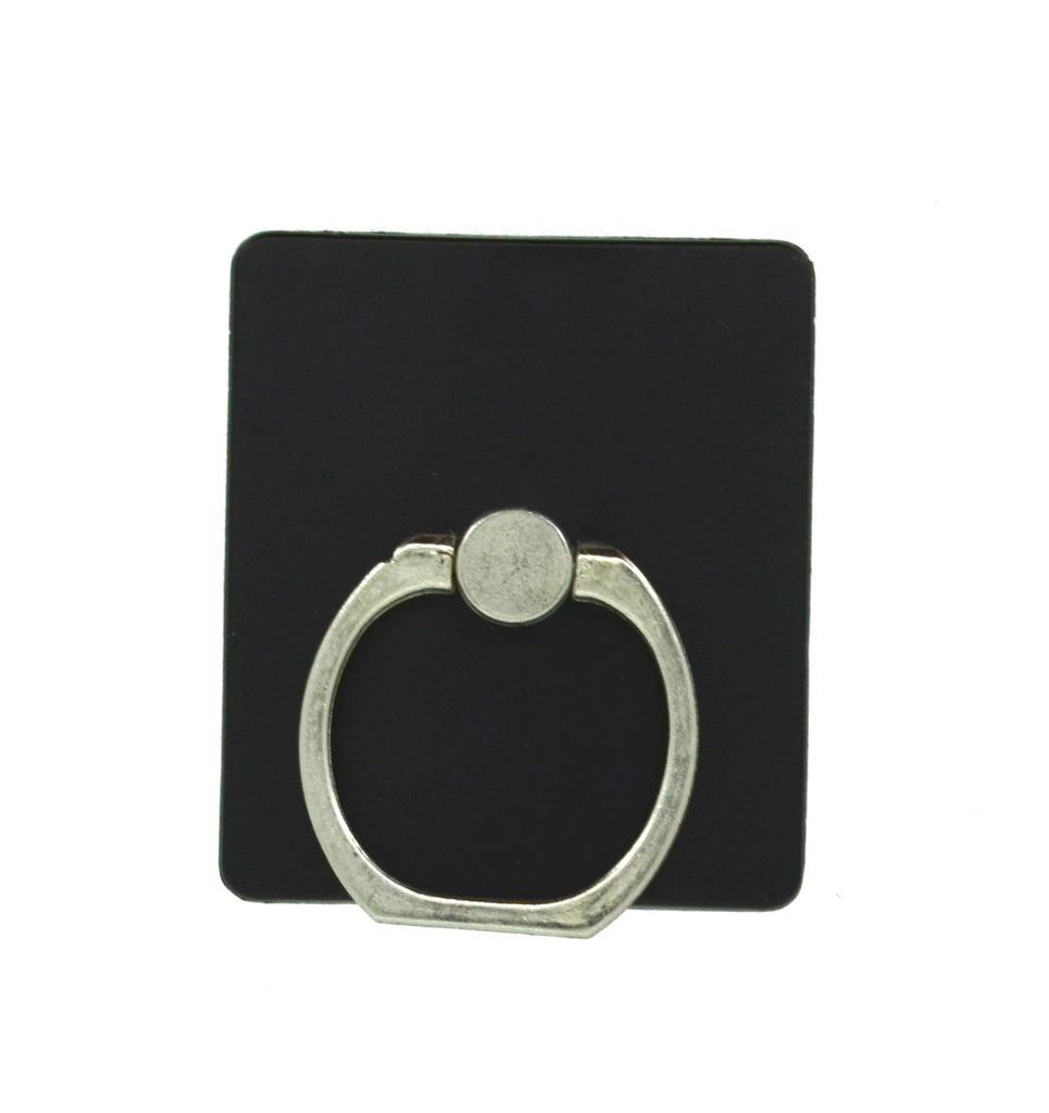 Βάση Στήριξης Γραφείου 360° Rotating Ring Ακρυλικό για Κινητά Τηλέφωνα Μαύρο 3.5 x 4 cm