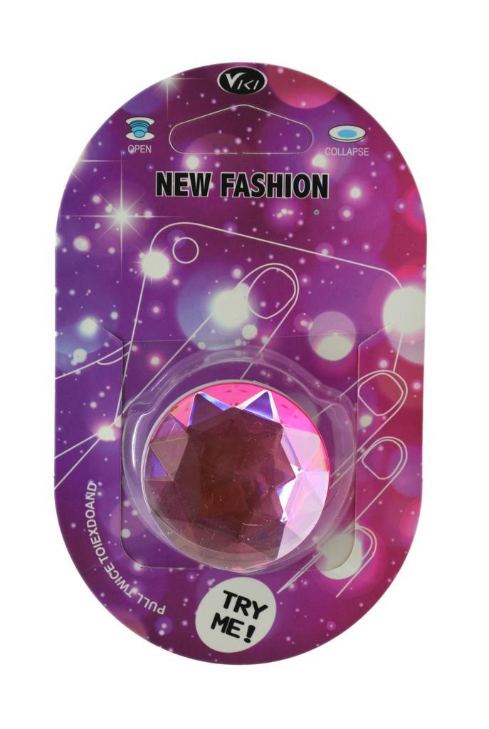 Pop Βάση Κινητού Crystal Diamond Ροζ