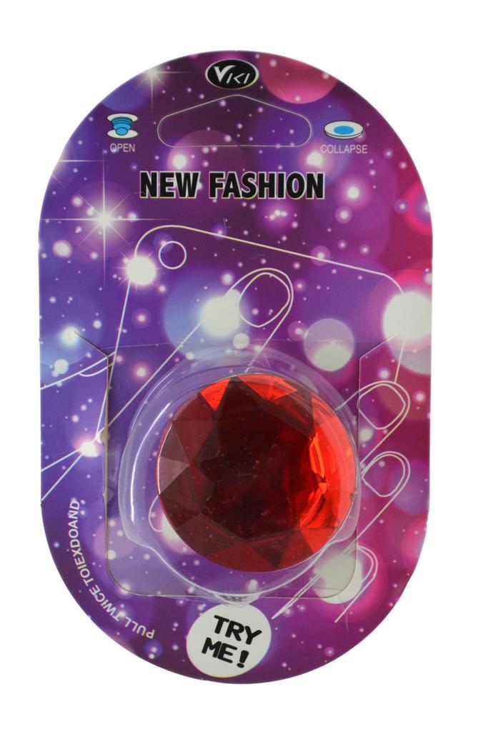 Pop Βάση Κινητού Crystal Diamond Κόκκινο