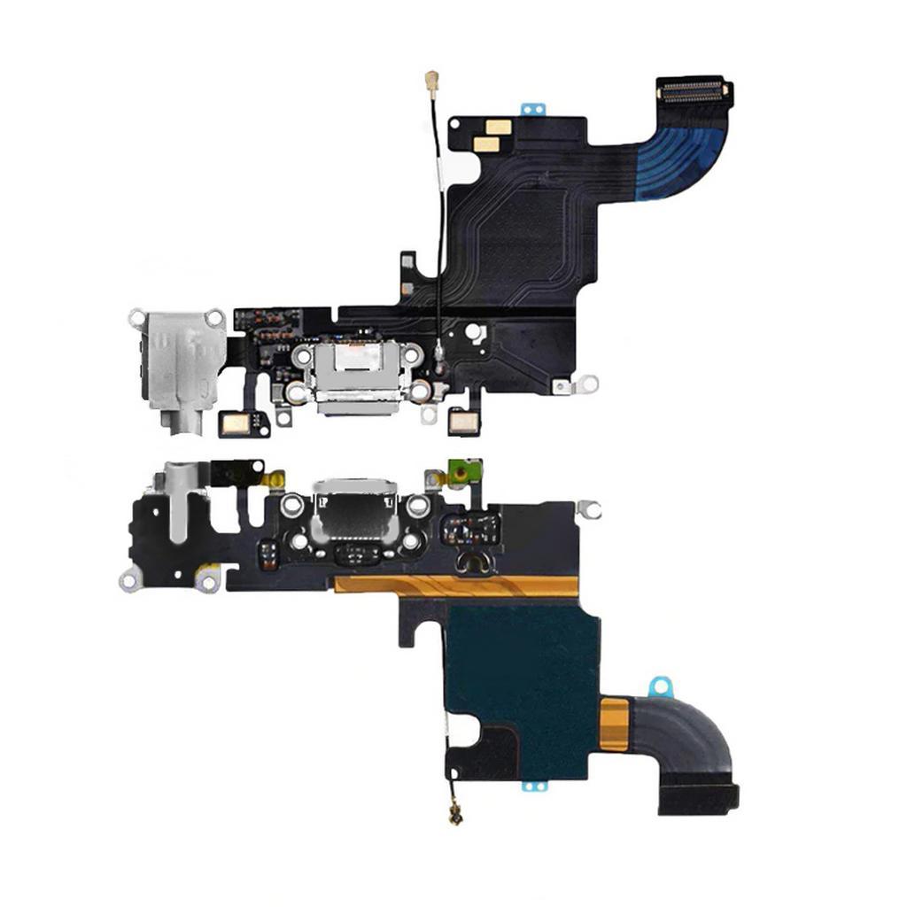Επαφή Φόρτισης για Apple iPhone 6S με Μικρόφωνο και Επαφή Ακουστικών Μαύρο OEM