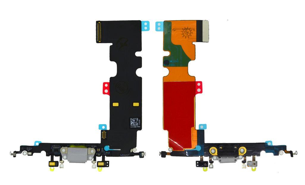 Επαφή Φόρτισης Apple iPhone 8 Plus με Μικρόφωνο Γκρι OEM Type A