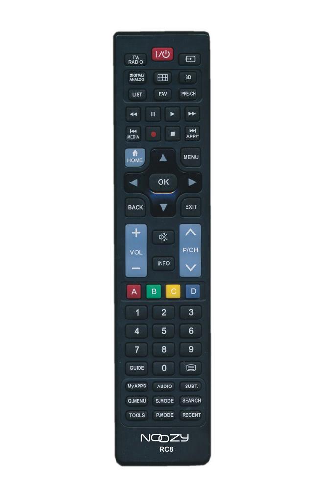 Τηλεχειριστήριο Noozy RC8 για Τηλεοράσεις Sony, Samsung, LG Άμεσης Αντικατάστασης χωρίς Προγραμματισμό