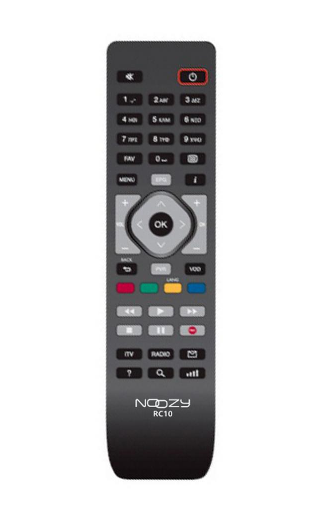 Τηλεχειριστήριο Noozy RC10 για Αποκωδικοποιητή Cosmote TV Άμεσης Αντικατάστασης χωρίς Προγραμματισμό