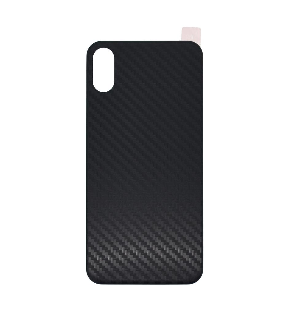 Κάλυμμα για Καπάκι Μπαταρίας Carbon Fiber για Apple iPhone X / XS Μαύρη