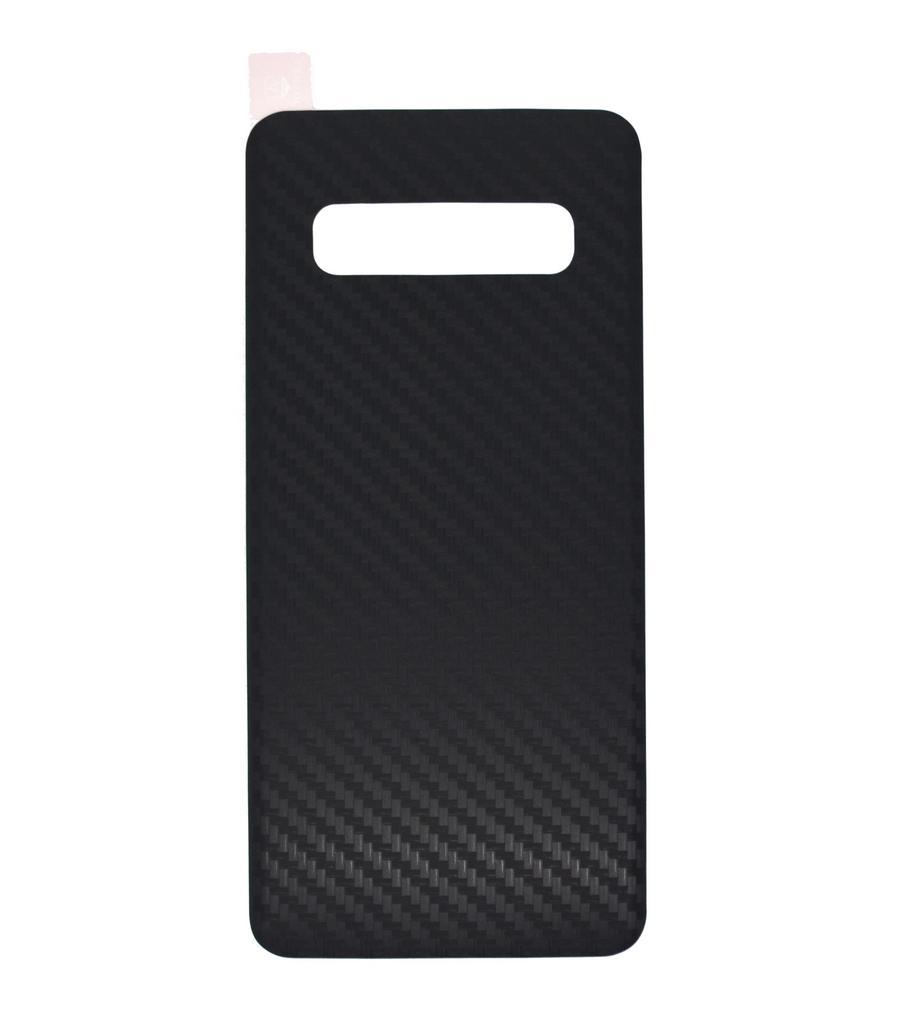 Κάλυμμα για Καπάκι Μπαταρίας Carbon Fiber για Samsung SM-G975F Galaxy S10+ Μαύρη