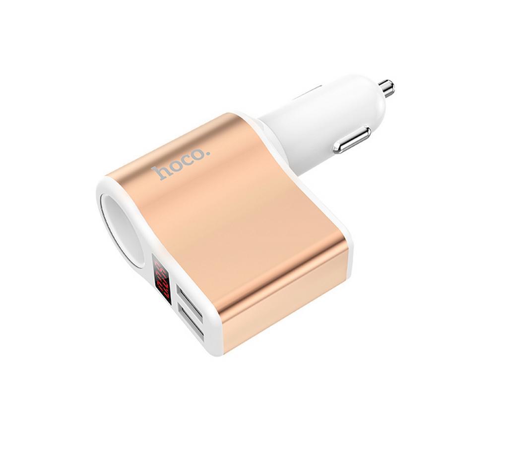 Φορτιστής Αυτοκινήτου Hoco Z10 Dual USB Fast Charging 5V 120W και Είσοδο 12/24V Λευκό