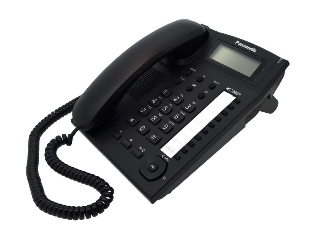 Σταθερό Ψηφιακό Τηλέφωνο Panasonic KX-TS880EXB Μαύρο Υποδοχή Hands Free 2.5mm